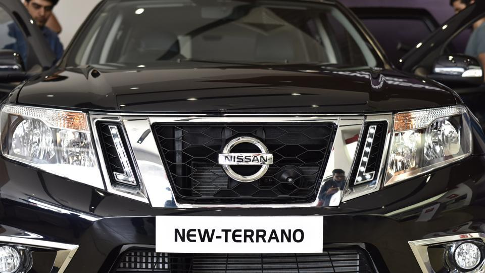 The new Terrano SUV continues to get a 1.6 litre petrol engine that makes 103 bhp and 145 Nm of peak torque, while mated to a 5-speed manual gearbox and a 1.5 diesel engine that comes in two states of tunes.  (Virendra Singh Gosain/HT PHOTO)