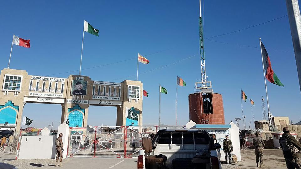 Border between Pakistan and Afghanistan at Chaman.