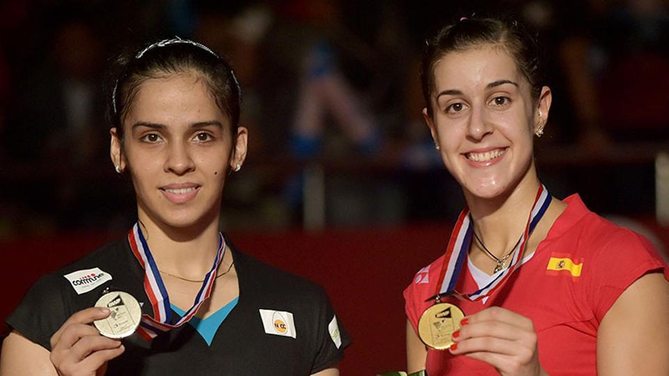 Spain's Carolina Marin had defeated her Indian rival Saina Nehwal in the final of the 2015 BWF World Championships, as well as the title match of the 2015 All England Open Badminton Championships.