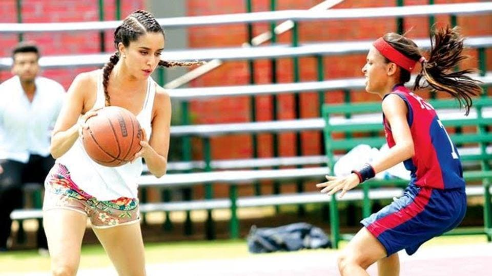 Shraddha Kapoor plays basketball in a still from Half Girlfriend.