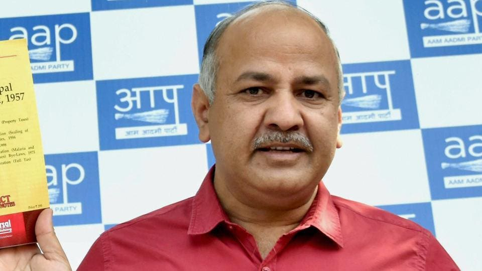 Delhi's deputy chief minister Manish Sisodia at a press conference regarding the upcoming MCD elections in New Delhi on March 26, 2017.