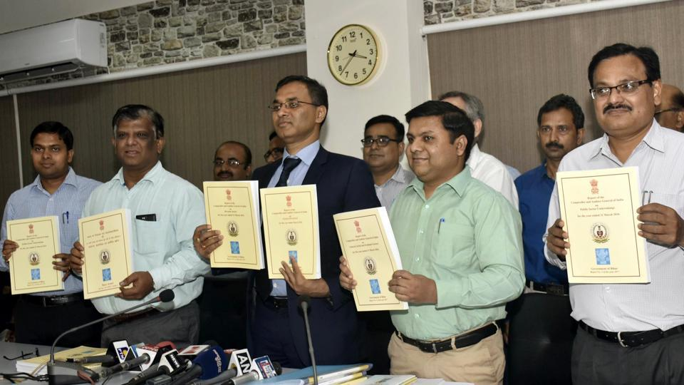 CAG report was released in Patna on Monday.