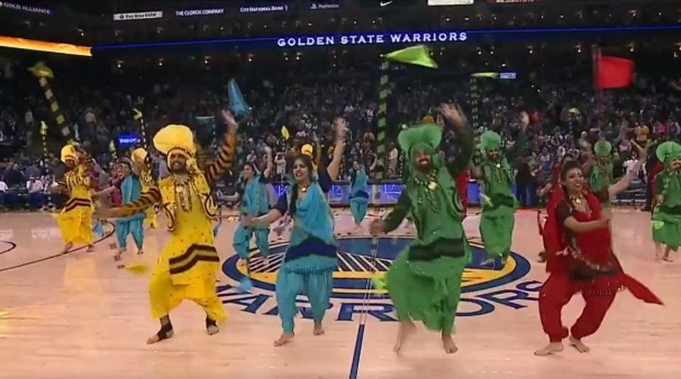A video grab from a video posted by NBA India on Facebook.
