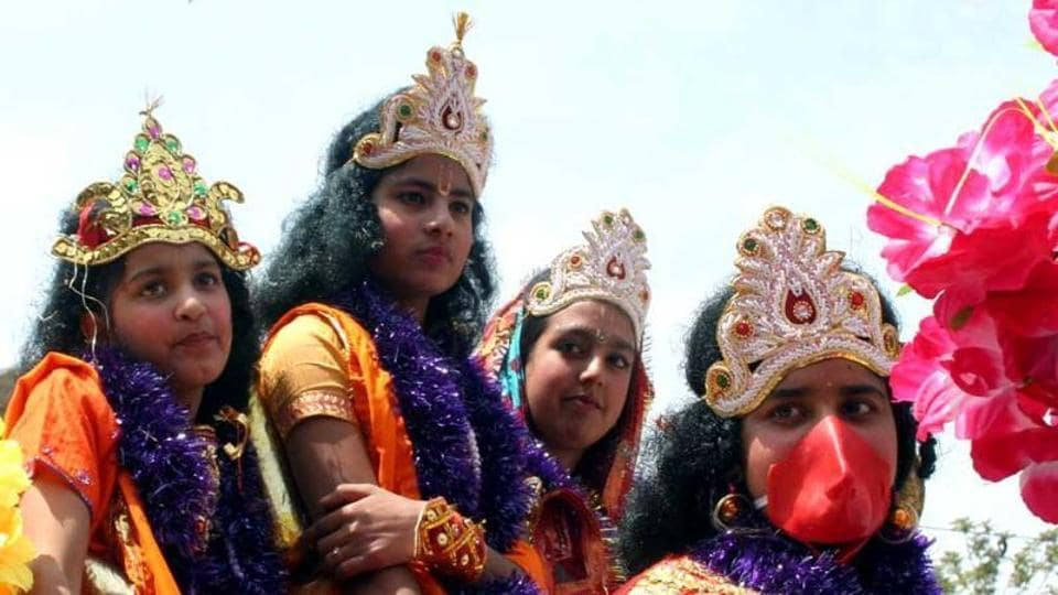Ram Navami celebrations in North India. The Sangh Parivar has planned elaborate celebrations in Bengal for the first time.