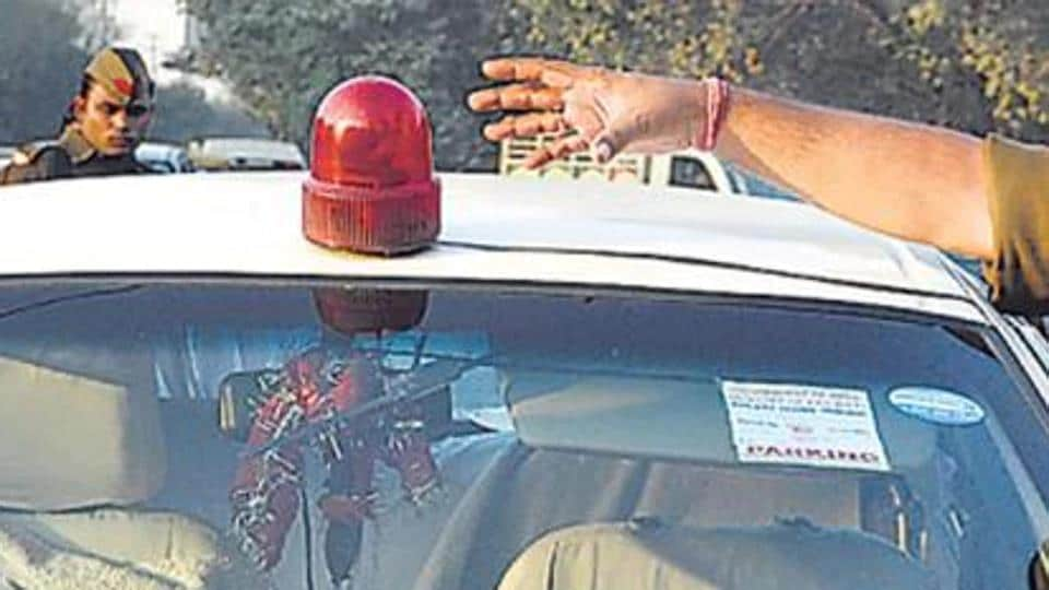 CM Captain Amarinder Singh denied any change in his government's policy against the use of red beacon lights on vehicles, categorically ruling out dilution of the same.
