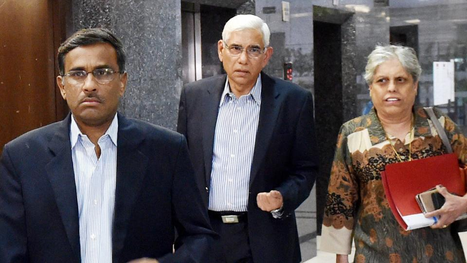 Members of the Supreme Court-appointed Committee of Administrators (CoA), (from left ) IDFC Managing Director Vikram Limaye,  former CAG of India Vinod Rai  and former cricketer Diana Edulji. The CoA doesn't seem to be on the same page as BCCI officials
