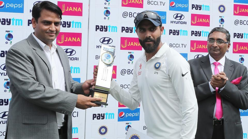 Ravindra Jadeja was the man of the match for the fourth India vs Australia Test in Dharamsala. (BCCI)