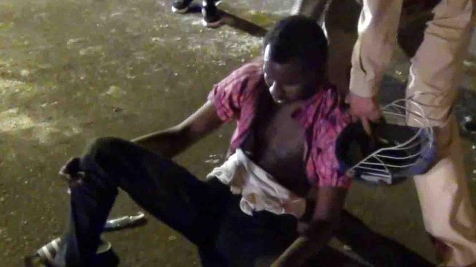Several Africans were assaulted in Greater Noida on Monday as people from a protest march attacked black foreigners in the area.