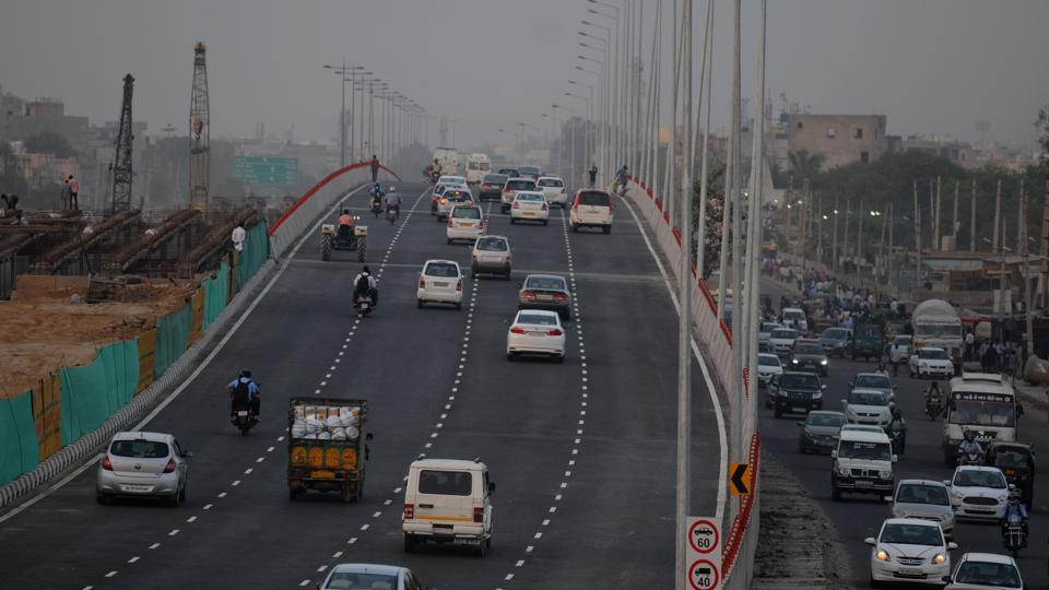 One carriageway of the Hero Honda Chowk flyover, from Manesar to New Delhi, was opened to commuters on Monday.