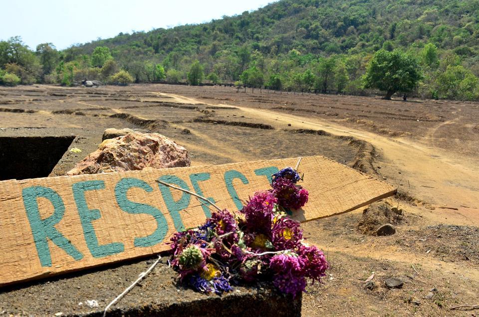 Tributes left at the spot where Irish tourist Danielle McLaughlin's body was found in Goa.