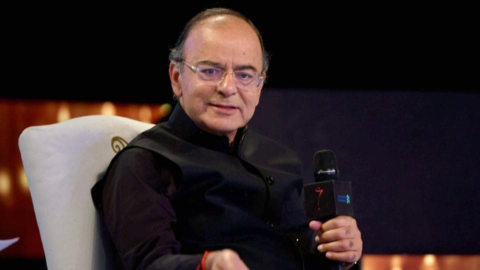 Finance minister Arun Jaitley at an award function in New Delhi.