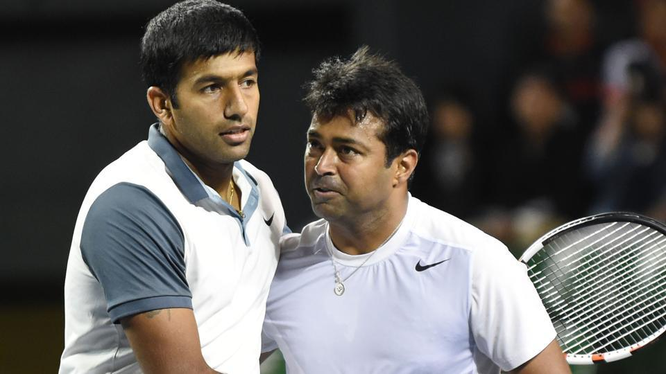 Rohan Bopanna (left) and Leander Paes have been part of many engrossing battles in  Davis Cup, but the two might not get to play against Uzbekistan as they are on the reserves list.