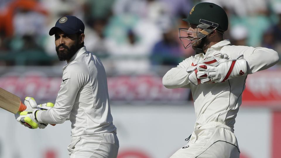 Ravindra Jadeja and Matthew Wade were tangled in a war of words during the fourth Test match in Dharamsala.