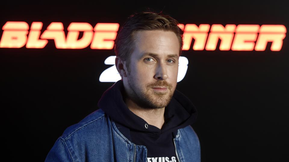 Ryan Gosling, who stars in the upcoming film Blade Runner 2049, poses during a photo call backstage of the Sony Pictures Entertainment presentation at CinemaCon 2017 at Caesars Palace on Monday.
