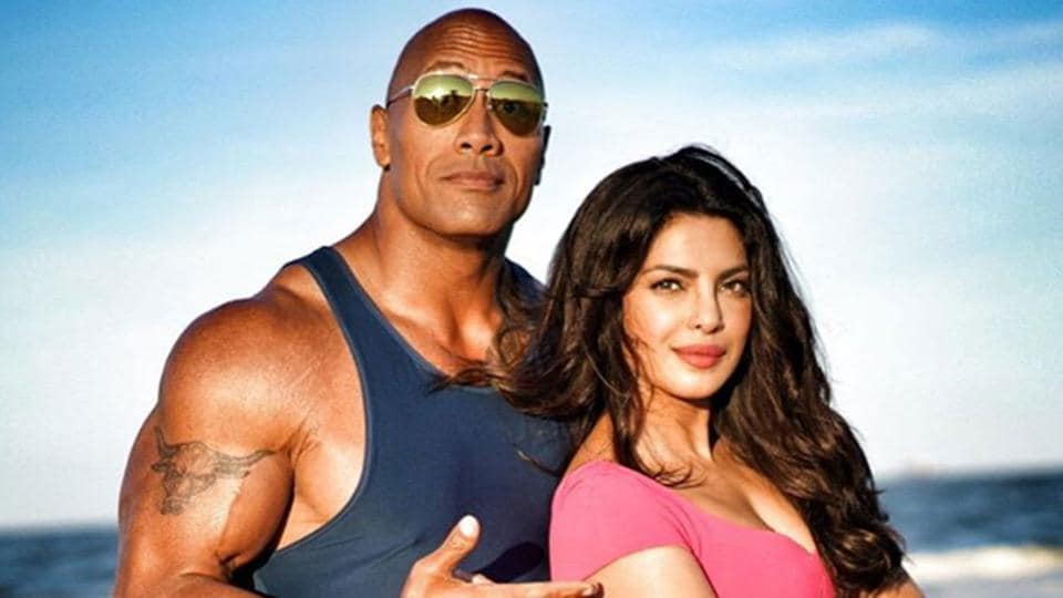 Dwayne Johnson and Priyanka Chopra will play adversaries in Baywatch.