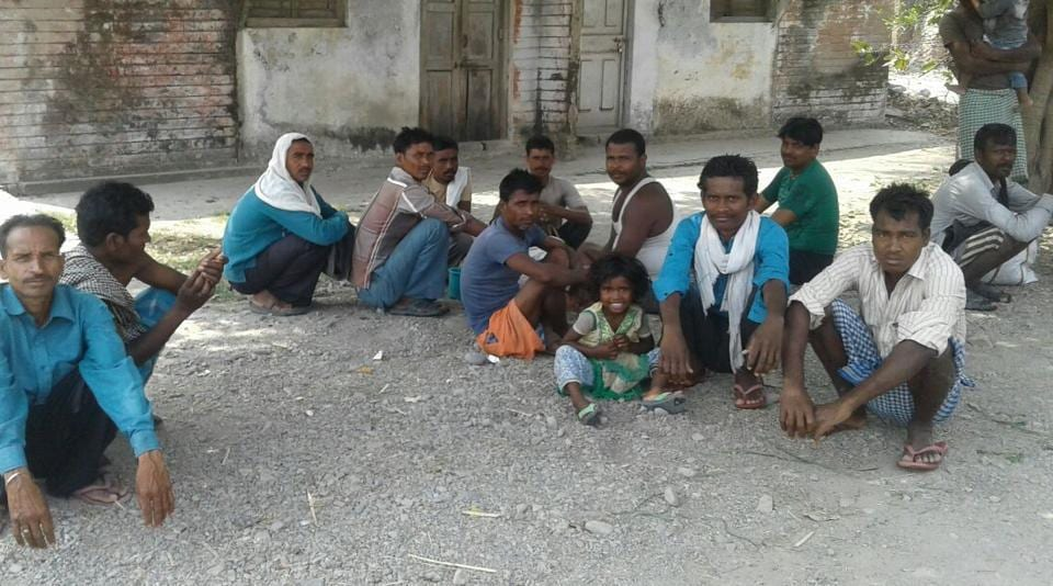 With no work, migrant labourers, mostly from Bihar and Uttar Pradesh, have started to return to their  native places.