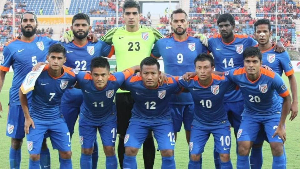 Indian football team defeated Myanmar in a close AFC Asian Cup qualifying match.