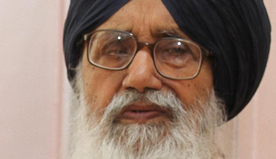 Former Punjab chief minister and Shiromani Akali Dal supremo Parkash Singh Badal