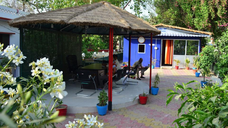 A view of the Sangam outpost.