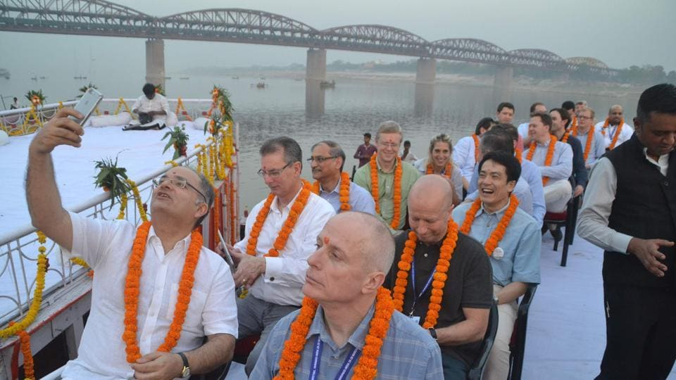 G-20 Framework Working Group,Delegates,Ganga aarti