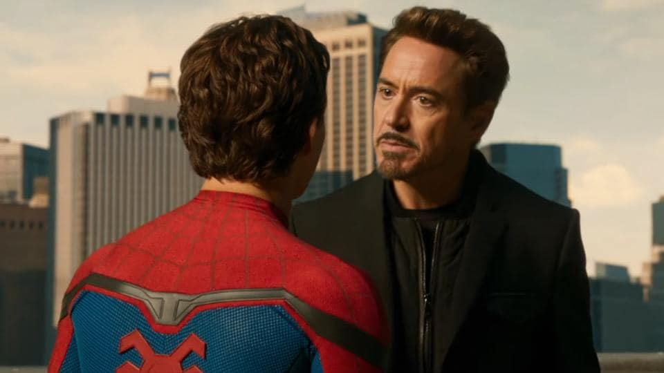 Robert Downey Jr takes on a mentorship role in Peter Parker's life.
