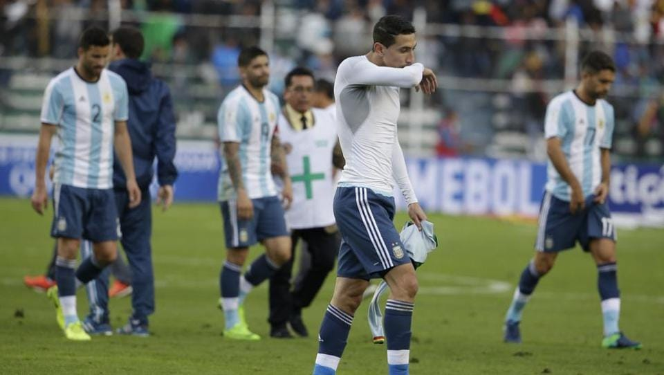 Argentina were rattled by Lionel Messi's suspension ahead of their game against Bolivia.
