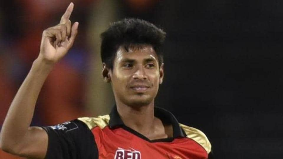 In his IPL debut season, Mustafizur Rahman took 17 wickets in 16 matches for Sunrisers Hyderabad.  (HT Photo)