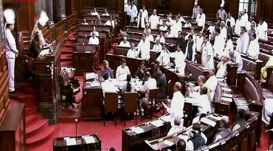 Of the five opposition amendments moved in the Rajya Sabha, three were moved by the Congress member Digvijaya Singh and two by Sitaram Yechury of CPI(M).