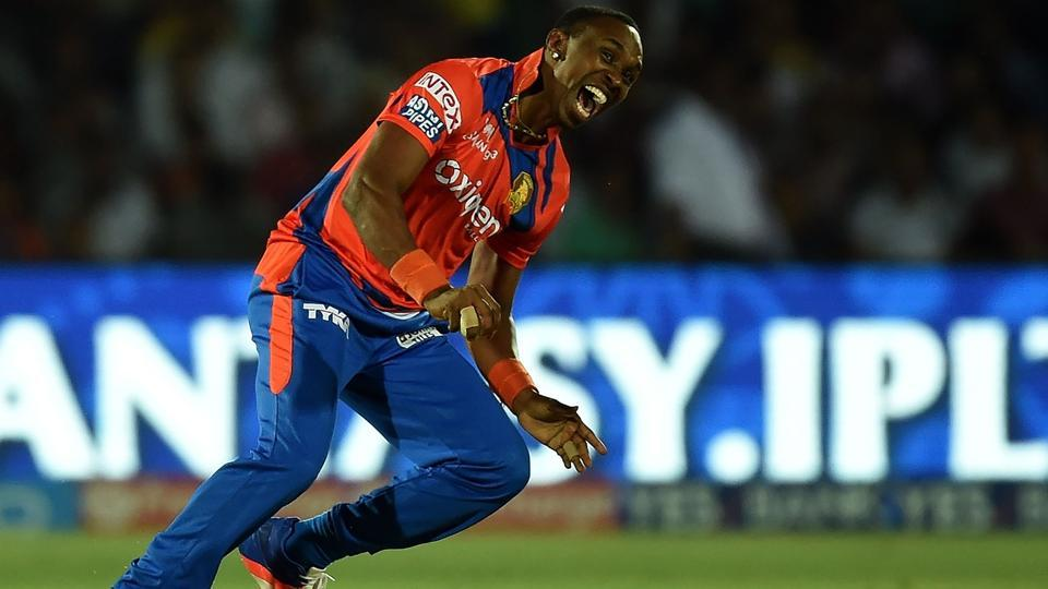 Dwayne Bravo (Gujarat Lions) is the third most successful bowler with 122 wickets in 106 matches. (AFP)