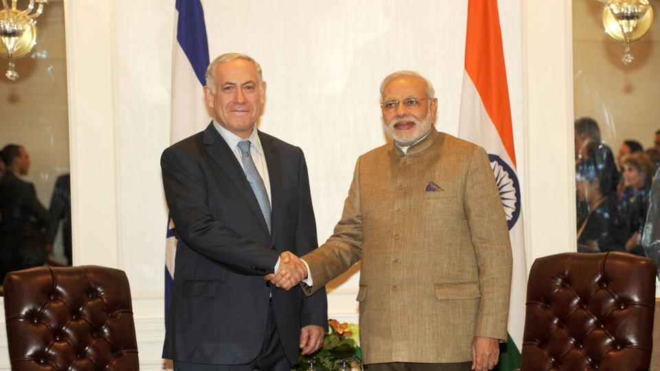 Prime Minister Narendra Modi with his Israeli counterpart Benjamin Netanyahu, New York, September 28, 2014