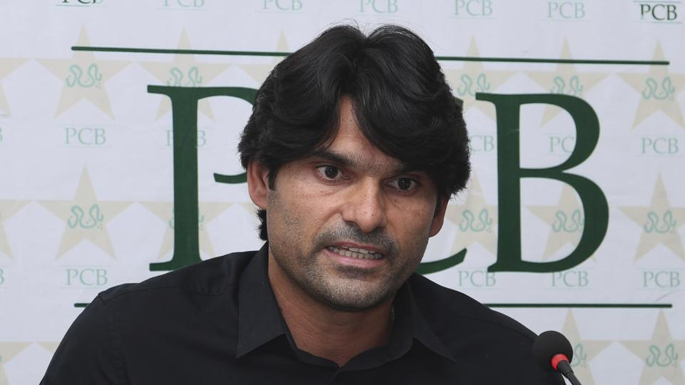 Mohammad Irfan at a press conference in Lahore on Wednesday. The Pakistan Cricket Board (PCB)has suspended the giant Pakistani pacer for one year and also fined him for violating the anti-corruption code during the Pakistan Super League. Irfan has admitted that he was twice approached by bookmakers during the PSL but he didn't inform the ACU officials in time.