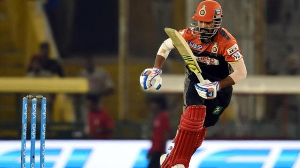 Last season, Kl Rahul hit close to 400 runs for Royal Challengers Bangalore at a very high average of 44 with four half-centuries.  (Hindustan Times)