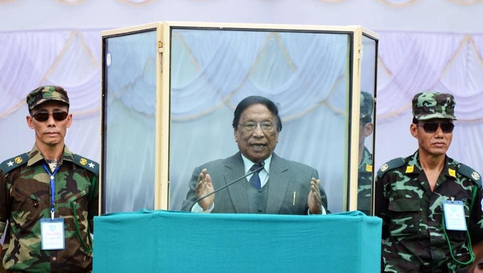 NSCN-IM's leader Thuingaleng Muivah.   Extremist groups such as Isak-Muivah faction of National Socialist Council of Nagaland (NSCN-IM) and its rival Khaplang outfit run parallel governments in areas they dominate.