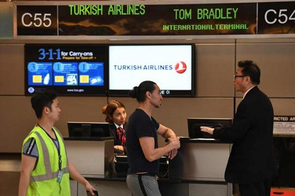 As the drama unfolded just before take-off at Turkey airport, fellow passengers said they were shocked.