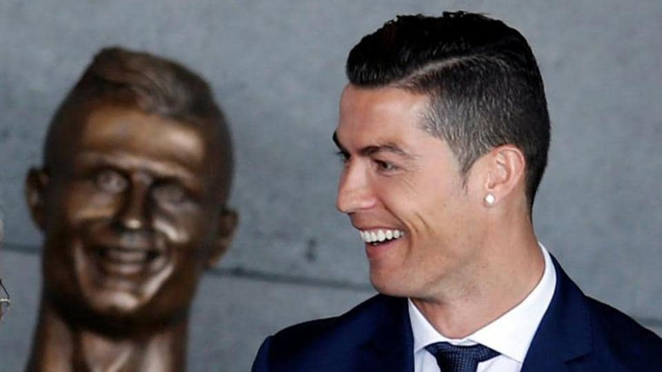 A bronze bust of Cristiano Ronaldo with a toothy grin and bulging eyes has created a laugh on social media because of its debatable likeness.