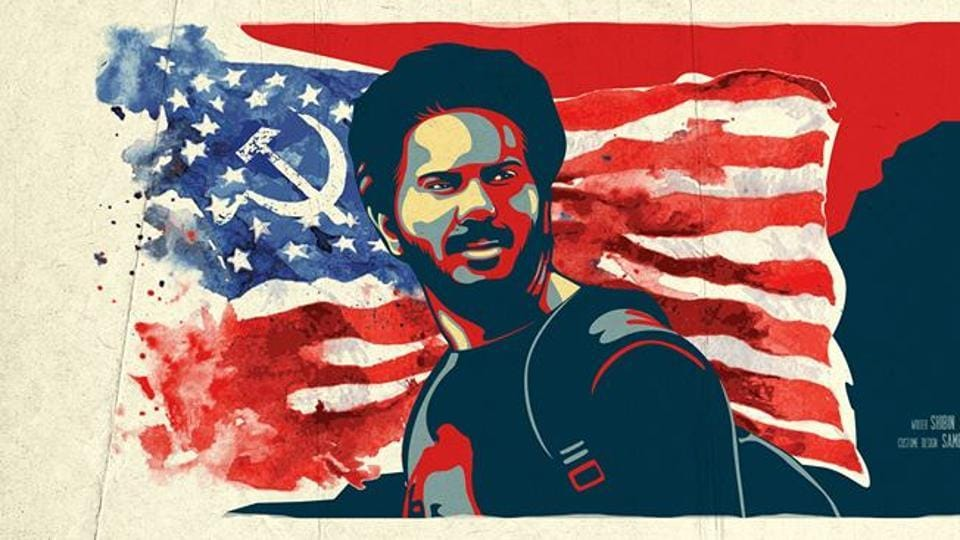 Dulquer Salmaan in a poster of Comrade In America (CIA) released earlier this year.