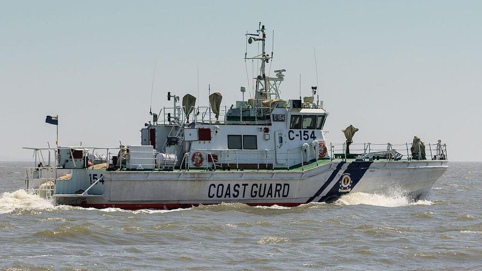 An interceptor boar of the Indian Coast Guard
