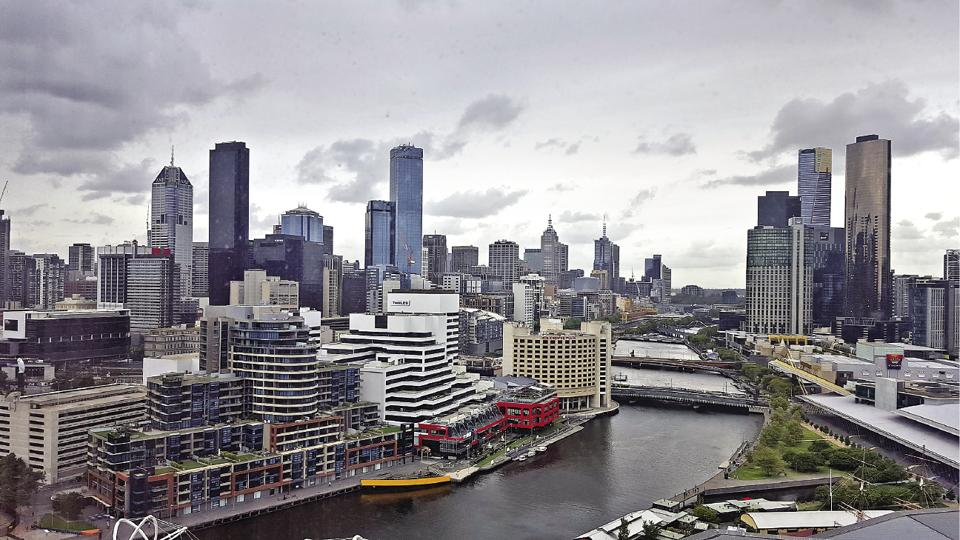 The stunning view from Hilton Melbourne South Wharf, Australia