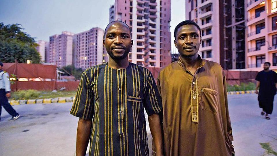 Moosa (left) and Abu Bakr of the Hausa community said they are abused by locals as well as fellow Africans.