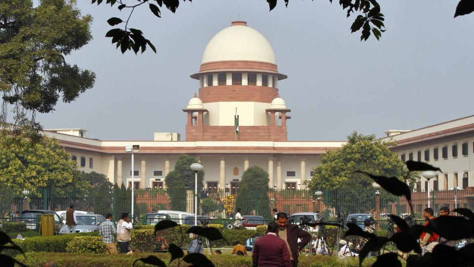 A view of the Indian Supreme Court building is seen in New Delhi.