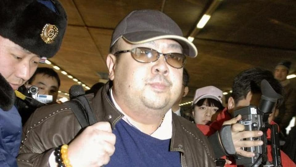 Kim Jong Nam arrives at Beijing airport in Beijing, China, in this photo taken by Kyodo on February 11, 2007.