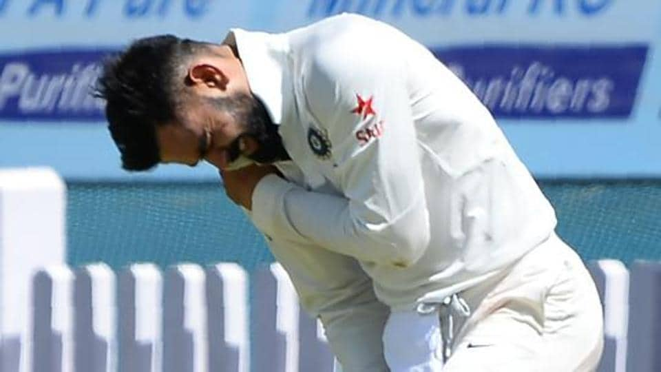 Virat Kohli, India captain, suffered a shoulder injury during the third India vs Australia Test in Ranchi.