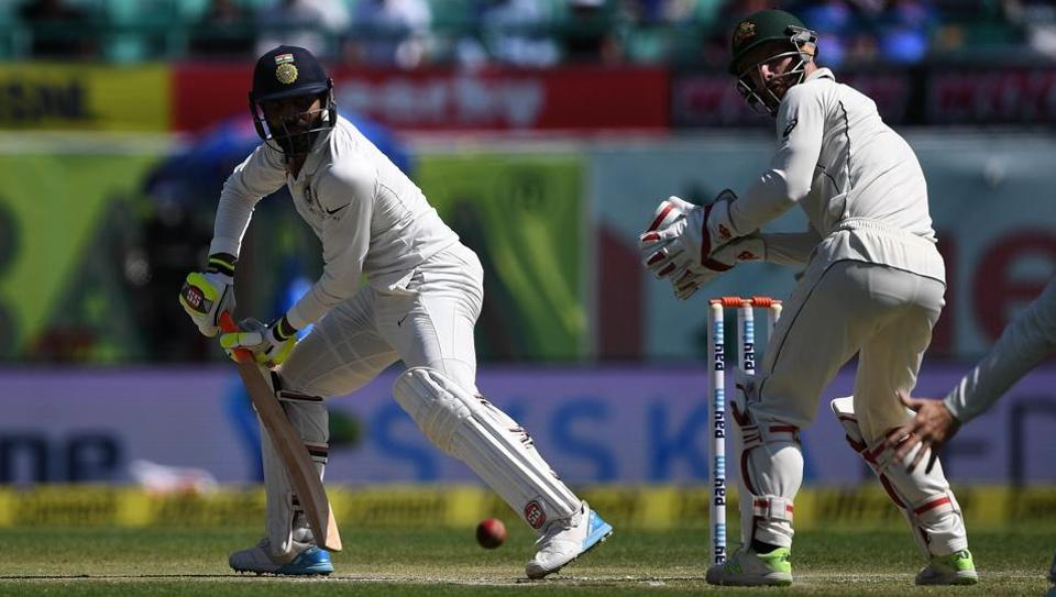 Ravindra Jadeja and wicketkeeper Matthew Wade exchanged words during the India vs Australia Dharamsala Test.