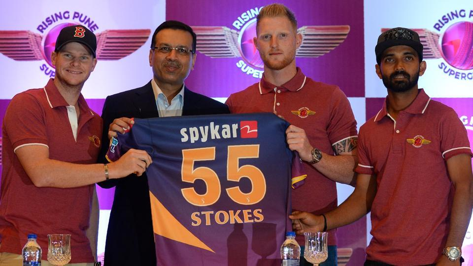 Rising Pune Supergiants introduce their marquee player Ben Stokes in New Delhi on Thursday. The England all-rounder will be a key member in skipper Steve Smith's team.