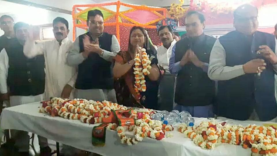BJP has fielded Kushwaha's wife Shobha Rani as the candidate for by-poll in Dholpur.