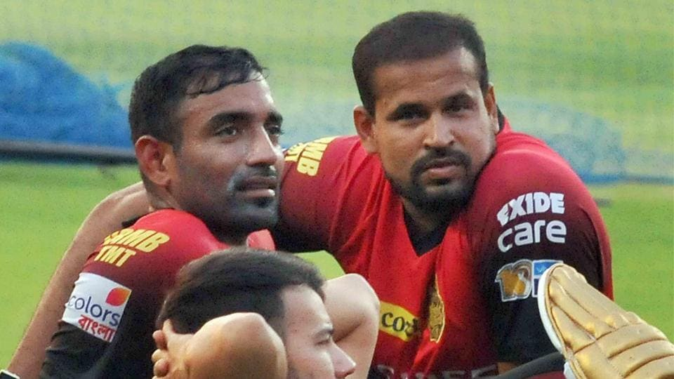 Pathan and Uthappa (L) are two batting mainstays of KKR. (PTI)