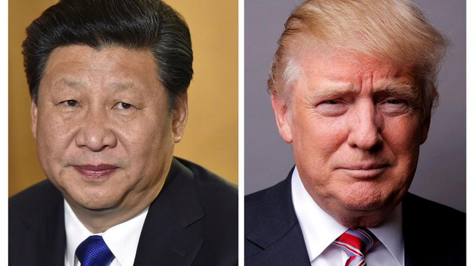 A combination of file photos showing Chinese President Xi Jinping (left) and US President Donald Trump.