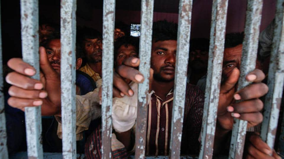 Two Indian nationals have been arrested in Pakistan after they were found living illegally in Karachi city for the last eight years.