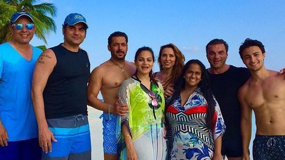 Image result for iulia vantur,salman khan,maldives trip,salman khan family,bollywood,
