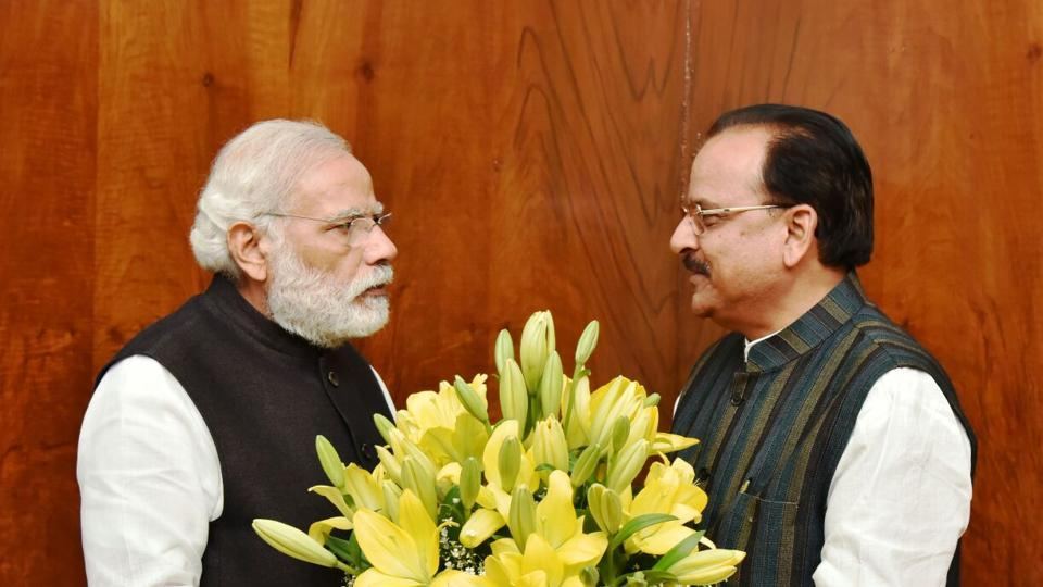 Uttarakhand BJP state president Ajay Bhatt met Prime Minister Narendra Modi on Friday and invited him to the religious ceremony to be organised to celebrate the opening of the hallowed portals of Kedarnath shrine on May 3.
